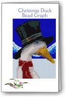 Christmas Duck Bead Graph