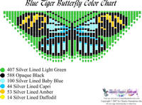 Dainty Blue Tiger Butterfly Bead Graph