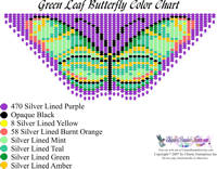 Dainty Green Leaf Butterfly Bead Graph