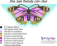 Dainty Pink Apple Butterfly Bead Graph