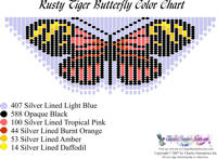 Dainty Rusty Tiger Butterfly Bead Graph