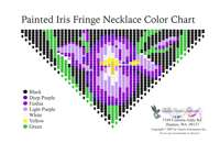 Painted Iris Fringe Bead Graph