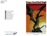 Dragon Sunset Bead Graph