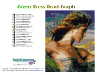 Green Dress Bead Graph