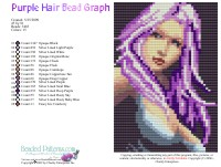 Purple Hair Bead Graph