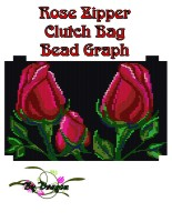 Rose Clutch Bag, Bead Graph, Instructions & Kit