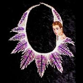 Beaded Lady Wings Necklace
