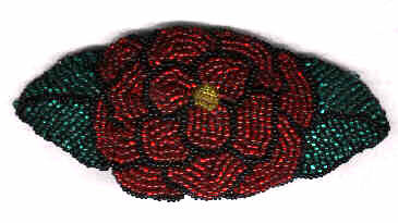 Beaded Rose Barrette