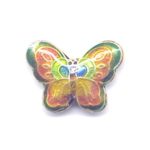 Butterfly Green Edge cloisonné bead 17x23mm