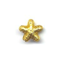 Gold Star Cloisonné bead 16x16mm