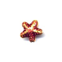Red Star Cloisonné bead 16x16mm