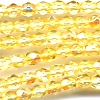 50 4mm Daffodil Sparkle Faceted