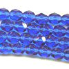 25 6mm Dark Blue Faceted