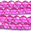 25 6mm Bright Pink Faceted