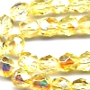 25 6mm Pale Yellow Sparkle Faceted