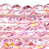 25 6mm Pink Sparkle Faceted