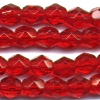 25 6mm Red Faceted