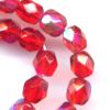 25 6mm Red Faceted Sparkle