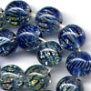 25 Blue Green Round Dangle Beads 8mm Beads