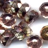 10 Peach Disk Sparkle 10mm Beads