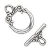 Silver Colored Scroll Toggle Clasp