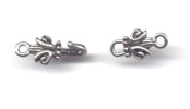 Silver Colored Crown Hook Clasp