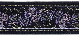 Purple Floral Ribbon, per 12 inches