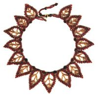 15 Red Leaf Russian Necklace