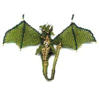 3D Beaded Olive Dragon [3dpk031]