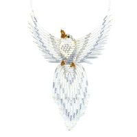 3D Beaded White Dove by Dragon
