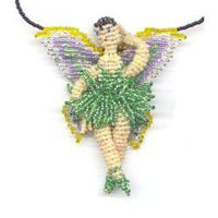 3D Beaded Leaf Fairy Finished Product by Dragon