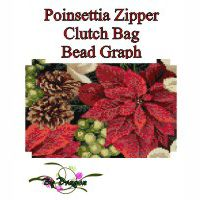 Poinsettia Zipper Clutch Bag