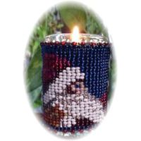 Santa's Hat Candle