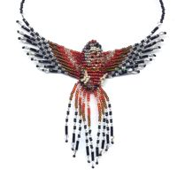 3D Beaded Coopers Hawk