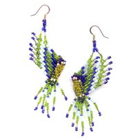 3D Parrot Earrings