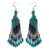 Peacock Dangle Earring