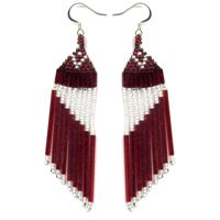 Red Slant Earrings