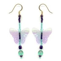 Butterfly Clear Sequin Earrings