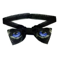 Black Panther Eyes Bow Tie Necklace by Dragon