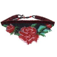 Rose Fringe Necklace Pattern and Kit