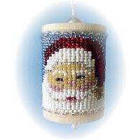 Christmas Santa's Beard Spool Ornament by Dragon