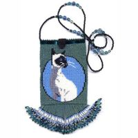Siamese Cat Cell Phone Bag by Dragon