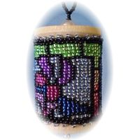 Christmas Stain Glass Spool Ornament by Dragon