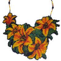 Tiger Lily Weave Necklace