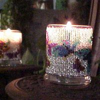 Butterfly on White Candle Holder