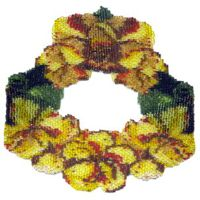 Yellow Poppies Weave Necklace
