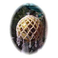Zig Zag White Christmas Ornament Cover