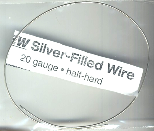 12 inches of Silver Filled 20 gauge Wire, half hard