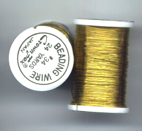 72 feet of Gold Colored Beading Wire
