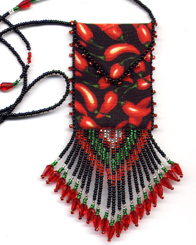 Red Chili Pepper Amulet Bag by Dragon